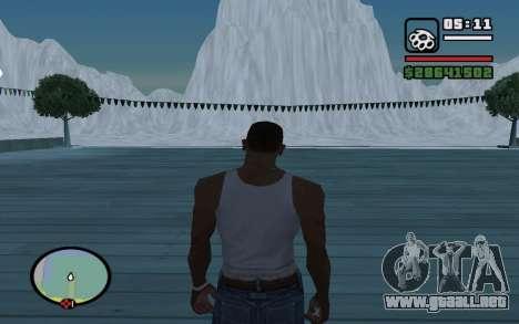Mountain map para GTA San Andreas segunda pantalla