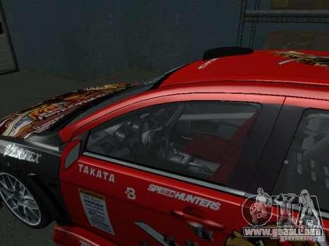 Mitsubishi Evolution X Stock-Tunable para vista lateral GTA San Andreas