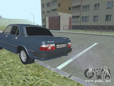 GAZ 3110 Volga v1.0 para la visión correcta GTA San Andreas