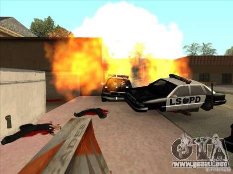 El guión de CLEO: ametralladora en GTA San Andre para GTA San Andreas