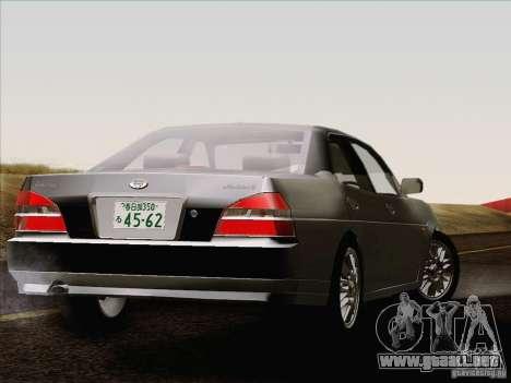Nissan Laurel GC35 Kouki Unmarked Police Car para GTA San Andreas vista posterior izquierda