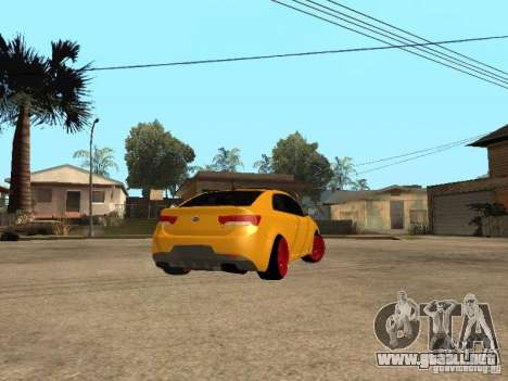 Kia Cerato Coupe JDM para GTA San Andreas left