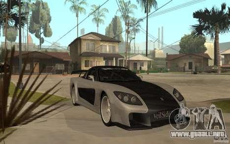 Mazda RX 7 VeilSide Fortune v.2.0 para GTA San Andreas vista hacia atrás
