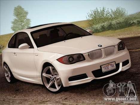 BMW 135i para vista lateral GTA San Andreas