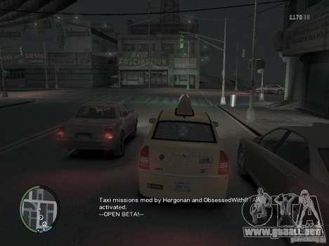 La misión de taxista para GTA 4 para GTA 4