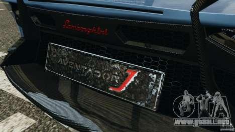 Lamborghini Aventador J 2012 para GTA 4 ruedas