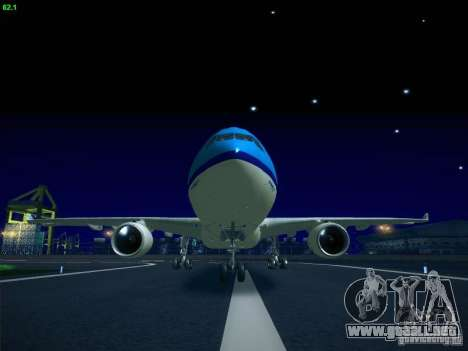 Airbus A330-200 KLM Royal Dutch Airlines para GTA San Andreas left