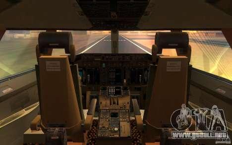 Boeing-747 Corsair Fly para la visión correcta GTA San Andreas