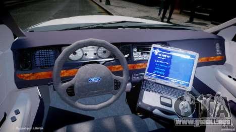 Ford Crown Victoria New Jersey State Police para GTA 4 vista hacia atrás