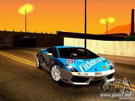 Lamborghini Gallardo LP560-4 para vista inferior GTA San Andreas