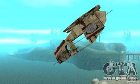 Cañonera de la República de Star Wars para visión interna GTA San Andreas