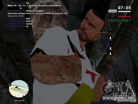 CM PUNK 2011 attaer para GTA San Andreas segunda pantalla