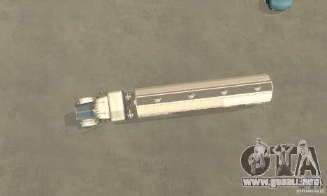 Peterbilt 379 Custom And Tanker Trailer para GTA San Andreas vista hacia atrás