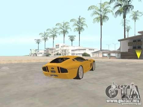 Ford Shelby GR1 para GTA San Andreas vista posterior izquierda