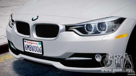 BMW 335i E30 2012 Sport Line v1.0 para GTA 4 ruedas