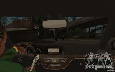 Mercedes-Benz S500 para visión interna GTA San Andreas