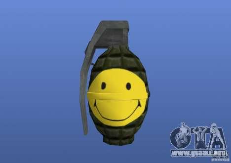 Smiley Granate para GTA 4