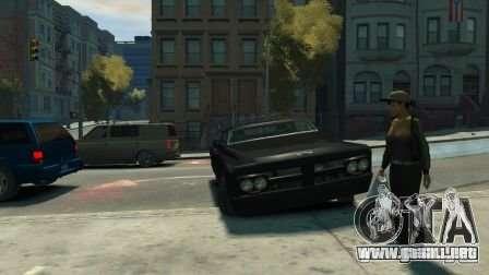 Slamvan para GTA 4 vista hacia atrás