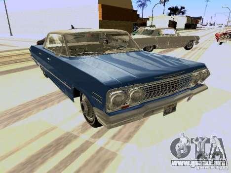 Chevrolet Impala 4 Door Hardtop 1963 para GTA San Andreas left
