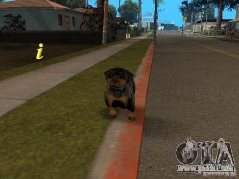 Animales para GTA San Andreas sucesivamente de pantalla