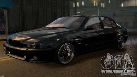 BMW M5 E39 BBC v1.0 para GTA 4 vista desde abajo