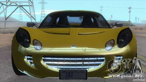 Lotus Elise para GTA San Andreas vista posterior izquierda