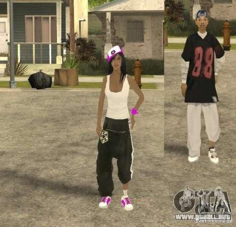 Skinpack Ballas para GTA San Andreas quinta pantalla