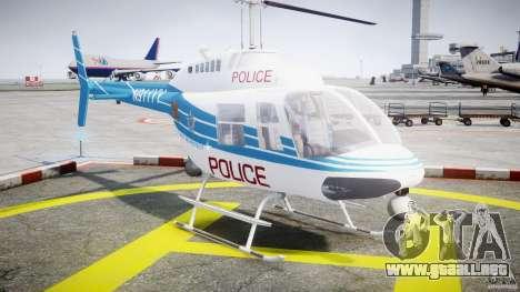 Bell 206 B - Chicago Police Helicopter para GTA 4 vista hacia atrás