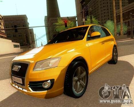 Audi Q5 para GTA San Andreas vista hacia atrás
