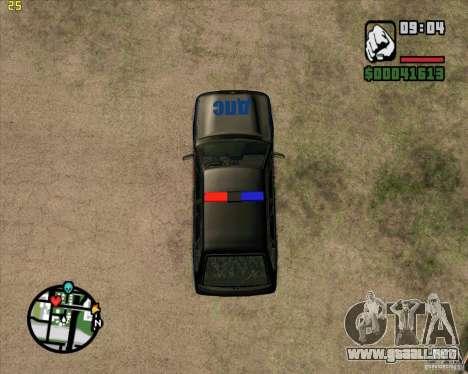 ВАЗ 2114 DPS tuning para GTA San Andreas vista hacia atrás
