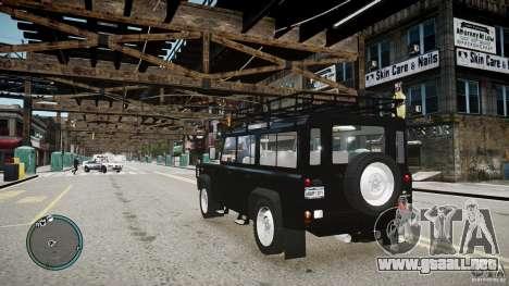 Land Rover Defender para GTA 4 vista interior