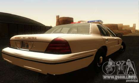 Ford Crown Victoria Utah Police para GTA San Andreas left
