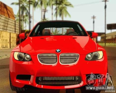 BMW M3 E92 v2.0 para visión interna GTA San Andreas