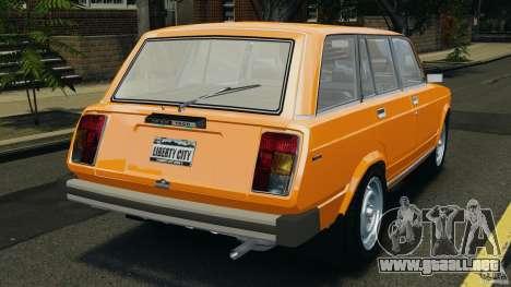 Vaz-21043 v1.0 para GTA 4 Vista posterior izquierda