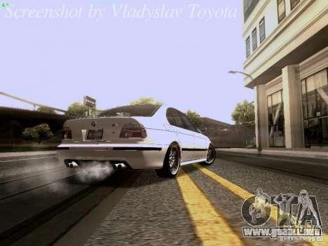 BMW E39 M5 2004 para la visión correcta GTA San Andreas