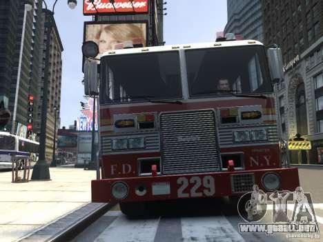 Fire Truck FDNY para GTA 4 left