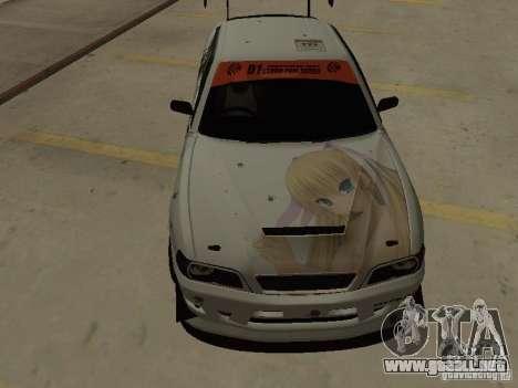 Toyota Chaser JZX100 Tuning by TCW para visión interna GTA San Andreas