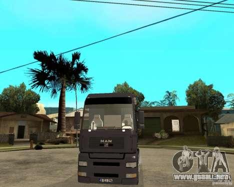 Man TGA para GTA San Andreas vista hacia atrás