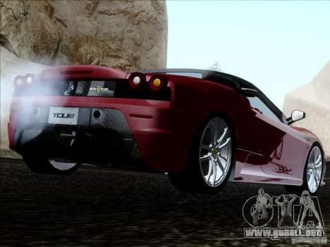 Ferrari F430 Scuderia Spider 16M para GTA San Andreas left