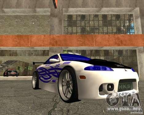 Mitsubishi Eclipse street tuning para GTA San Andreas vista hacia atrás