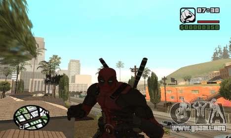 Dead Pool para GTA San Andreas quinta pantalla