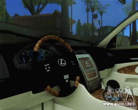 Lexus GS450h 2011 para la visión correcta GTA San Andreas