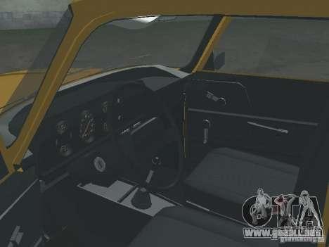 AZLK 2140 1981 para GTA San Andreas vista hacia atrás