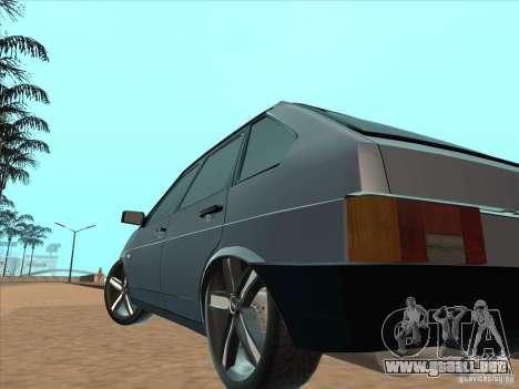 Ajuste ligero VAZ 21093i para GTA San Andreas vista hacia atrás