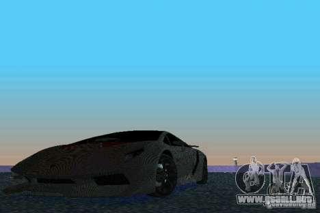 Lamborghini Sesto Elemento para GTA Vice City vista posterior