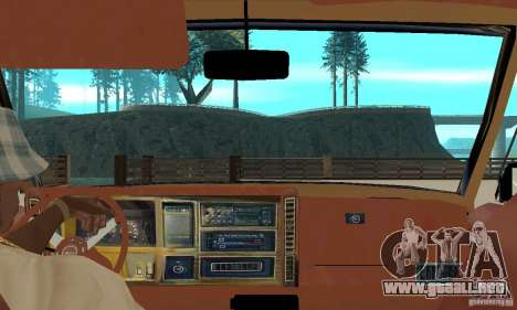 Jeep Grand Cherokee 1986 para GTA San Andreas vista hacia atrás