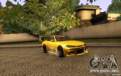 Nissan Silvia S15 Drift Style para visión interna GTA San Andreas