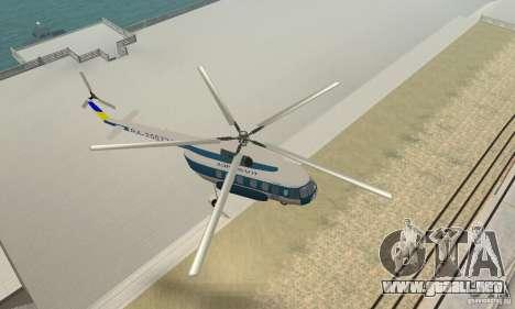 MI-17 civiles (Ucraniano) para la visión correcta GTA San Andreas