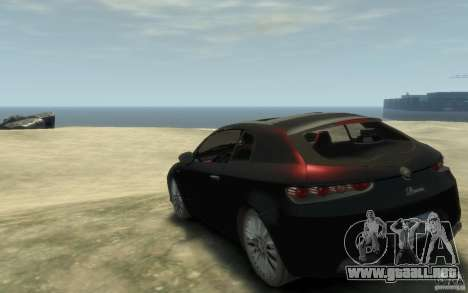 Alfa Romeo Brera para GTA 4 Vista posterior izquierda