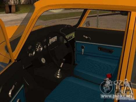 Versión temprana de la milicia AZLK 2140 para GTA San Andreas vista hacia atrás